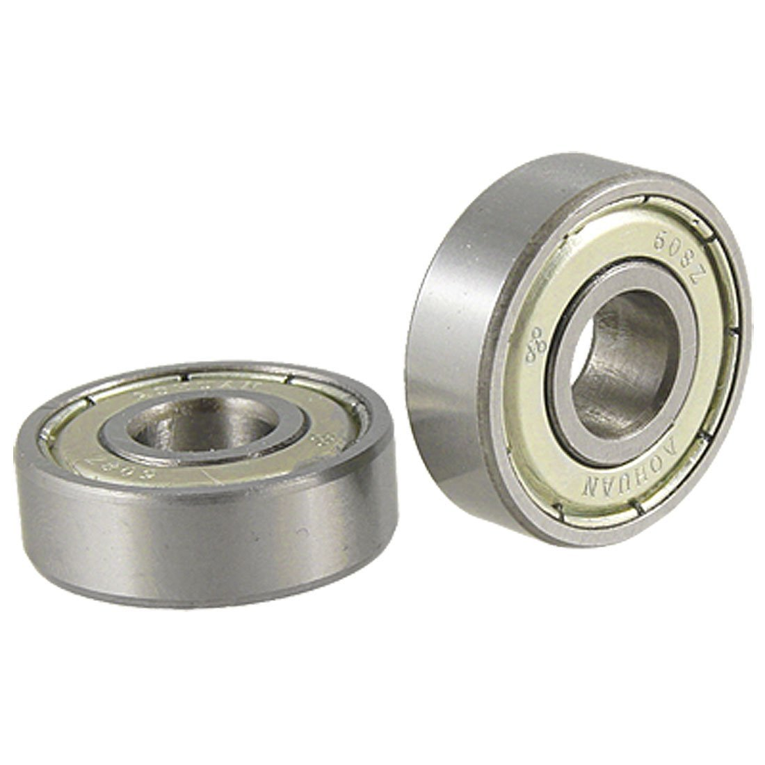 THGS  2 pcs Single Shielded 608Z Miniature Deep Groove Ball Bearings gcr15 6036 180x280x46mm high precision deep groove ball bearings abec 1 p0 1 pcs