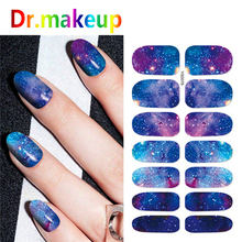 D 1 Sheet Charm Nail Stickers 3D Full Cover Starry Sky Flower Colorful White Water Transfer Sticker For Nails Art Decor