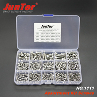 420pcs M3 M4 M5 A2 Stainless Steel DIN912 Allen Bolts Hex Socket Head Cap Screws With Nuts Assortment Kit NO.1111