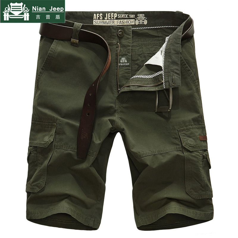 Brand Mens Cargo Shorts Multi-pocket Casual Loose Short Pants Men Bermuda Masculina Army Military Tactical Short Homme No Belt