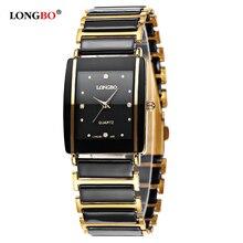 Бренд Longbo, для мужчин и женщин, для влюбленных, керамические, короткие, повседневные, уникальные, кварцевые наручные часы, роскошные часы, Relogio Feminino Montre Femme