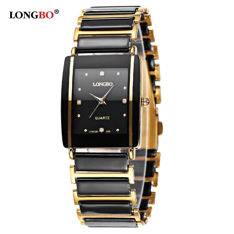 Longbo Brand Men Women Lover's Comple Ceramic Brief Casual Unique Quartz Wrist Watchesluxury Watch Relogio Feminino Montre Femme