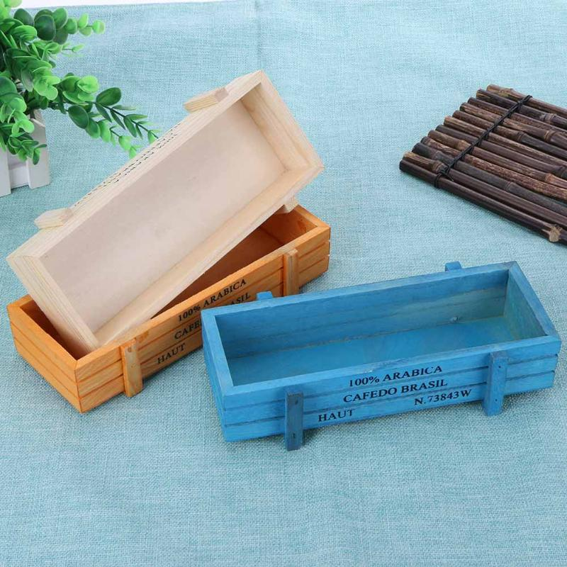 Us 266 36 Offvintage Wooden Crates Box Garden Desktop Flower Pot Trinket Decorative Storage Crate Case Home Office Retro Style Storage Box In