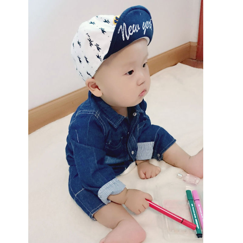 0e11fbd3c3a5 New Spring Autumn Baby Rompers Baby Boy Girl Jeans Jumpsuit High ...
