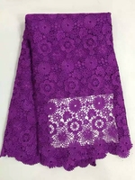 Embroidered mesh lace fabric purple  for wedding dress high end jacquard lace material African lace fabric for sewing