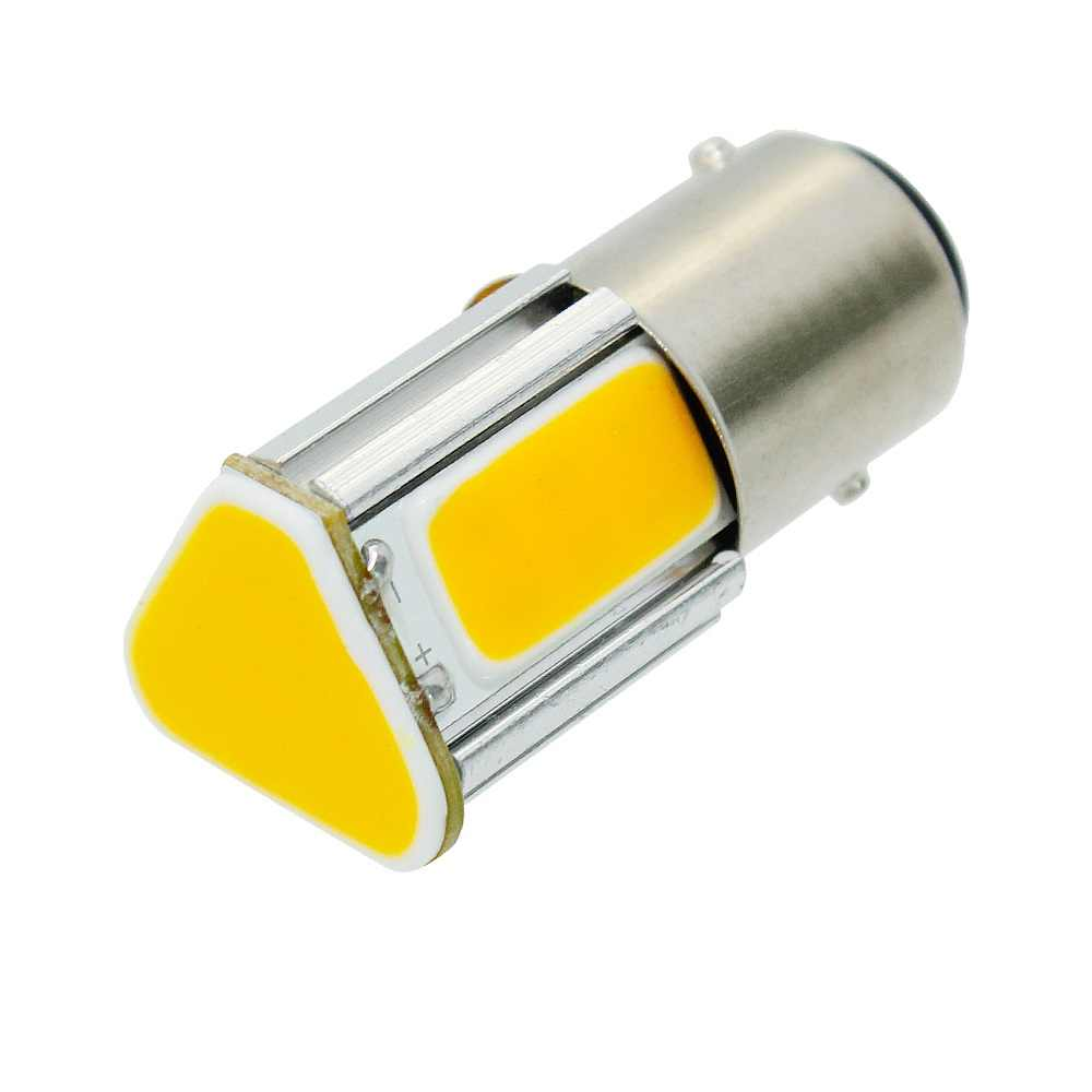 1Pcs 1156 LED P21W BA15S 4 COB Car Turn Signal Light Tail Brake Bulb 12V 1157 BAY15D Auto Parking Backup Reverse Bulb