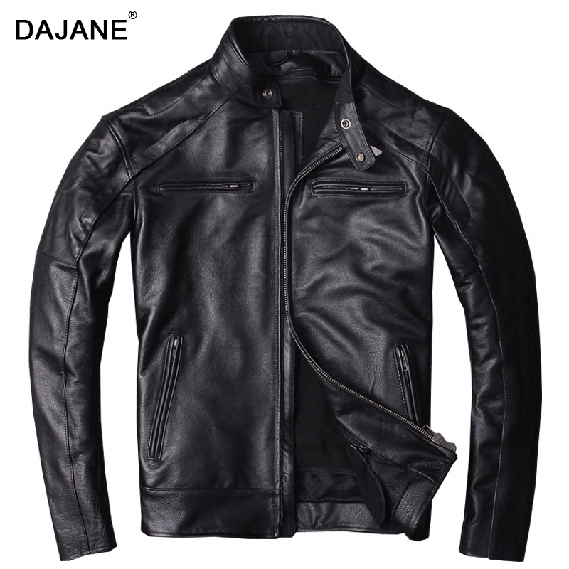 Punk cycling head layer cowhide bladder genuine leather coat winter men favors locomotive motor Real genuine leather jacket