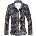 New 2017 spring fashion floral printed casual long sleeve shirt men camisa masculina men's shirts plus size m-7xl CS1-3
