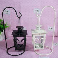 Candle Holder Retro Iron Heart Shaped Romantic Christmas Candlestick Lamp Light Home Decor Hot