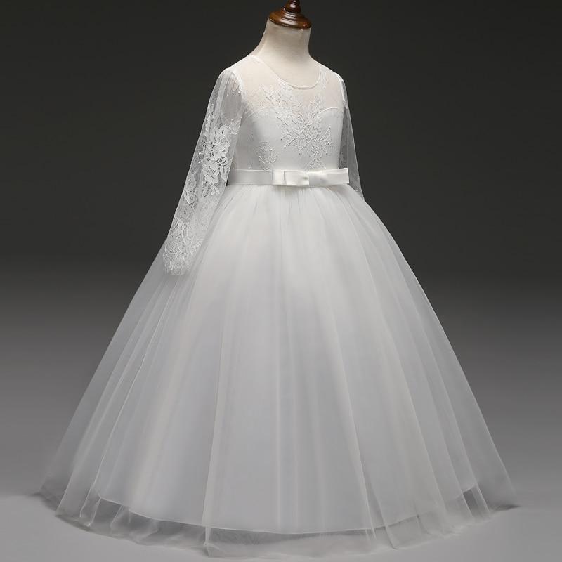 e6633da41248b White Long Girl Party Frock Summer Dress Children's Dress Girls Clothing  Teenagers 12 14 Years Graduation Wedding Gowns Vestidos