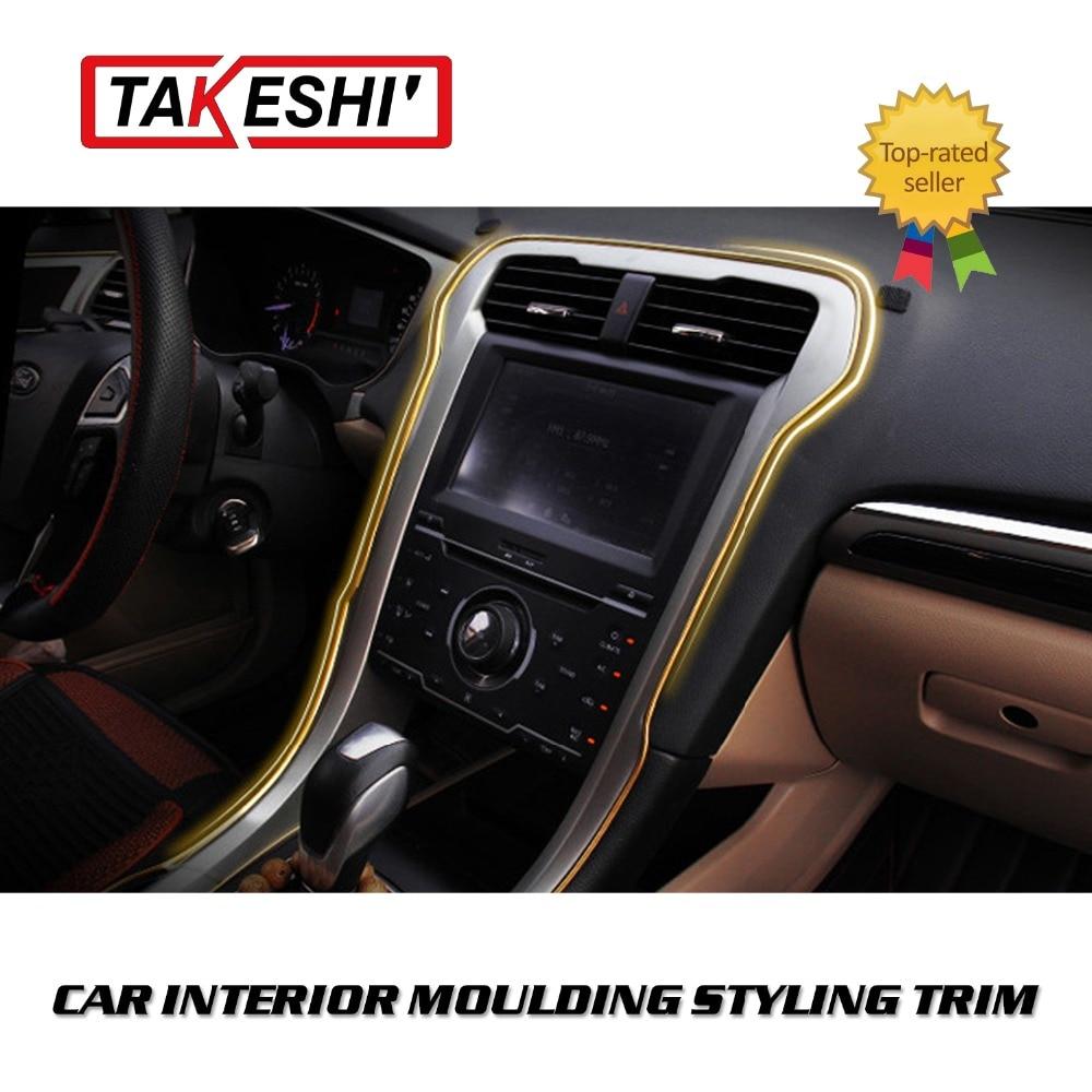 15m lot 590 flexible interior grille vent rim decoration moulding gap trim line chrome 8 colors. Black Bedroom Furniture Sets. Home Design Ideas