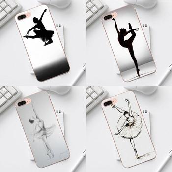 Qdowpz Cover Case For Galaxy Alpha Core Prime Note 4 5 8 S3 S4 S5 S6 S7 S8 S9 mini edge Plus Ashley Rose Ballerina Sketching image