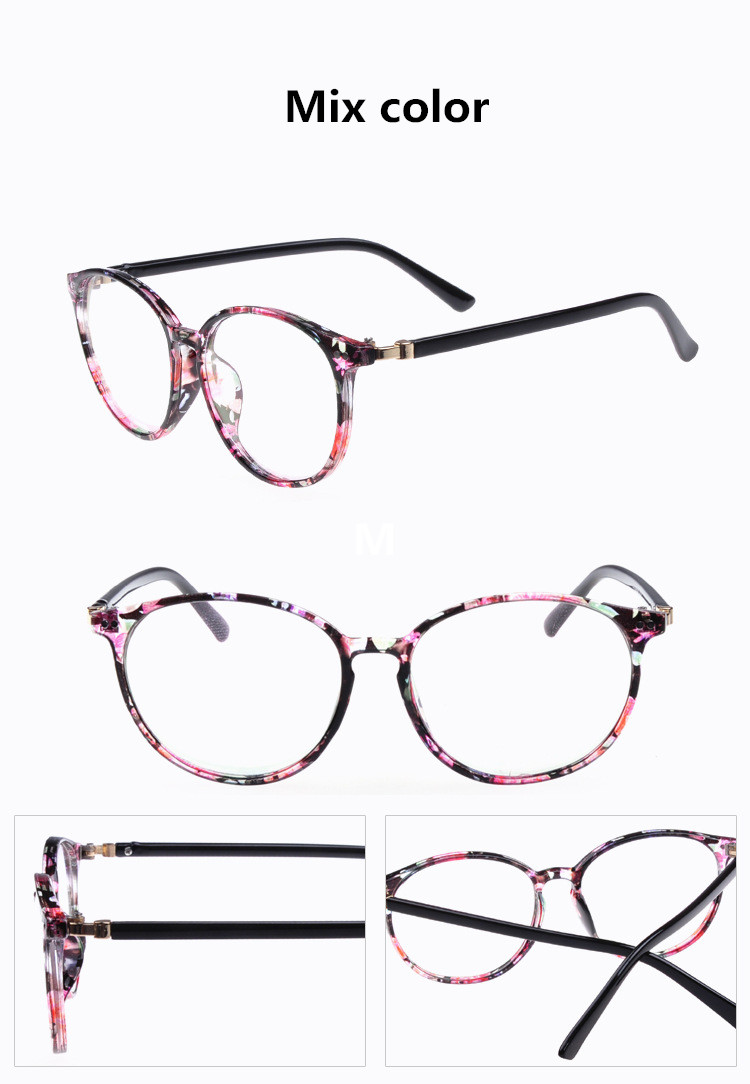7f9e05a6ae 2019 Women Round Oval Eyeglasses Glasses Frames High Grade Light ...