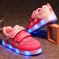 2016 Crianças sapatos Tênis Da Moda de Carregamento Luminous Iluminado LED Colorido luzes LED Crianças Sapatos Meninos Meninas Sapatos Casuais Plana