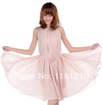 dec64a58485 Бледно-розовый Короткие Свадьба Гость невесты Платья-макси