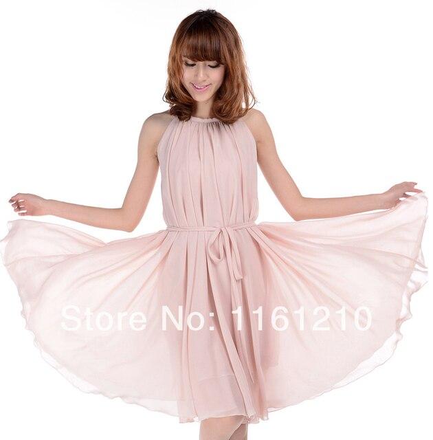896c881a3fddd3 Dusty różowy krótkie ślubne party gości druhna sukienki Maxi, wielka plaża  Sundress dla letnie wakacje