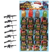 24 teile/satz 4D Montage Pistole Imitiert Wahre 1/6 PUBG Mobile Ebene 3 Rucksack Student Junge Spielzeug