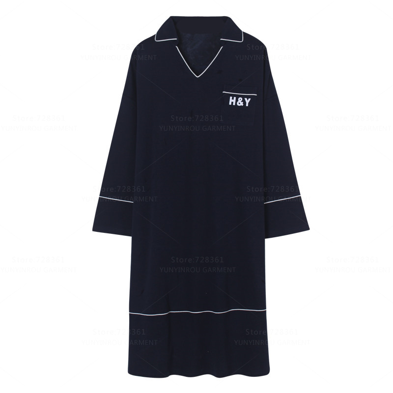 Brand New 100% Cotton   Nightgown   Women Nightdress Mujer Sleepwear Loose Casual   Nightgowns   Lady   Sleepshirts   Dress Home Clothing