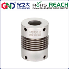 цена на GR Aluminum Alloy Bellows Top Series shaft coupling D16 to D65mm; L27 to L81mm