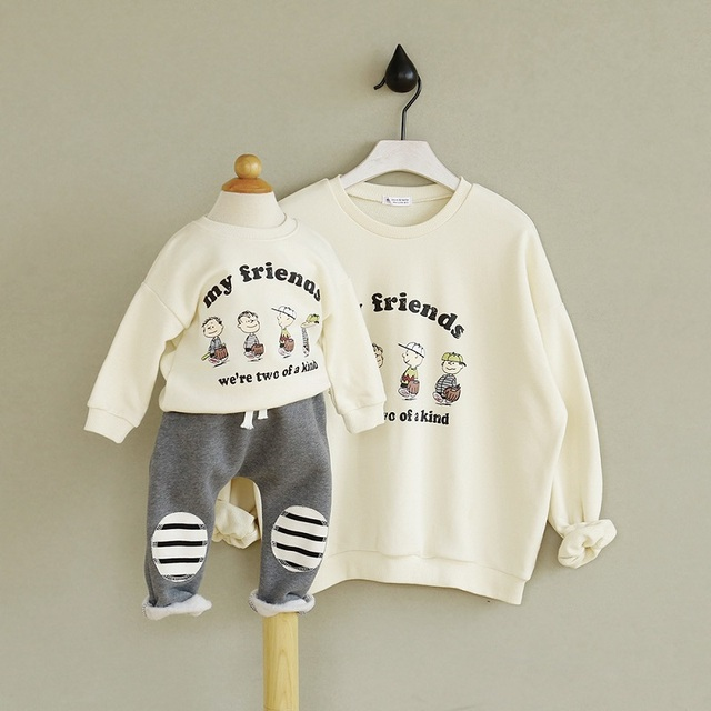 2017 Autumn Winter Mother And Daughter Clothes Outfits Best Friends