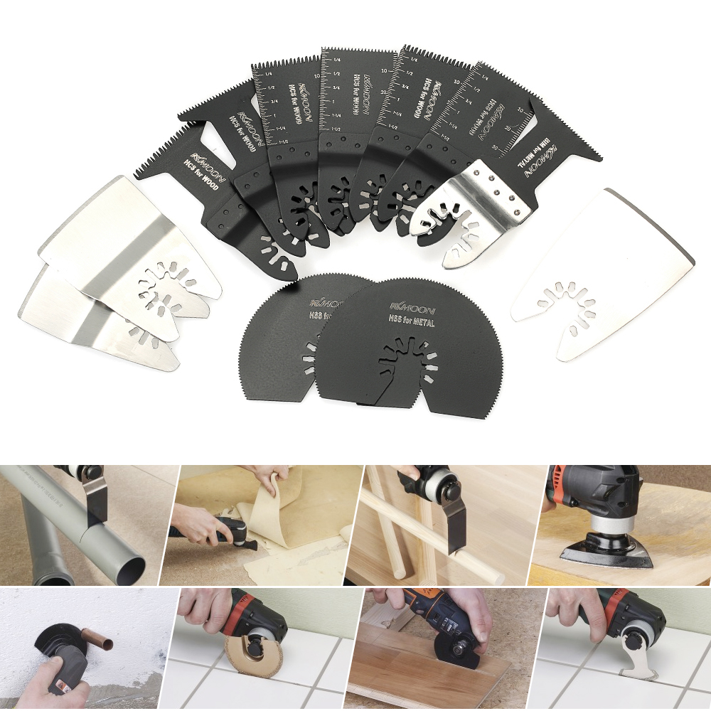 12pcs Oscillating Jig Saw Blades MultiTool Quick Release Saw Blade for renovator Dremel Fein Multimaster power tool Accessory de cristoforo the jig saw scroll saw book with 80 patterns pr only