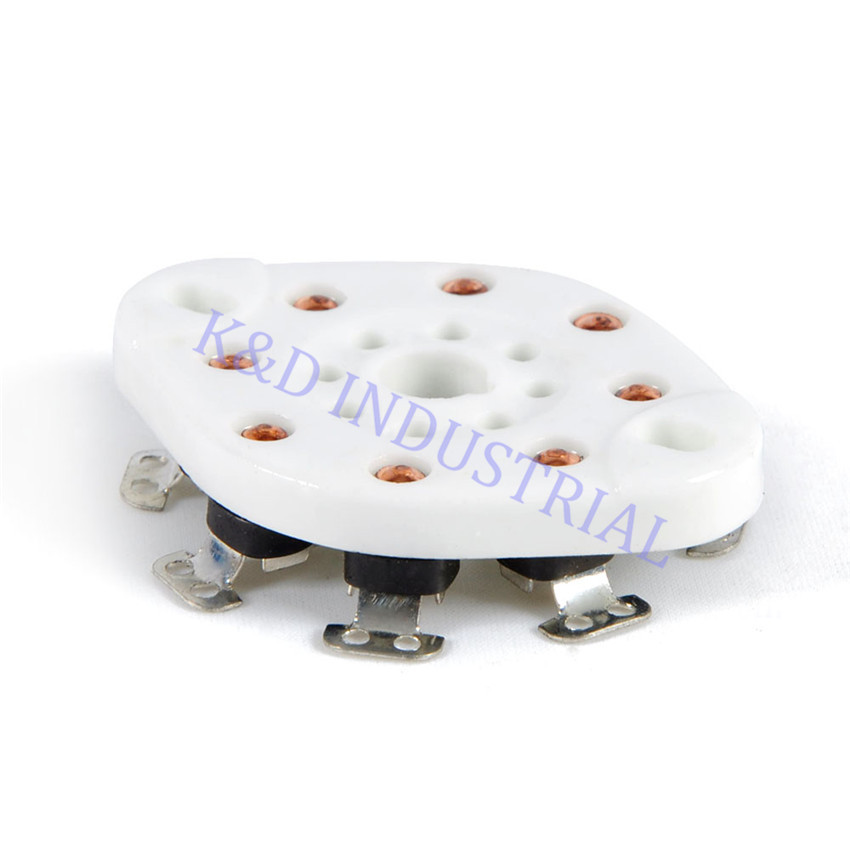 5pcs 8Pin Octal Ceramic Chassis Mount Vacuum Tube Socket EL34 6550 KT88 KT66 6SN7 5U4G 6CA7 in Smart Power Socket Plug from Consumer Electronics