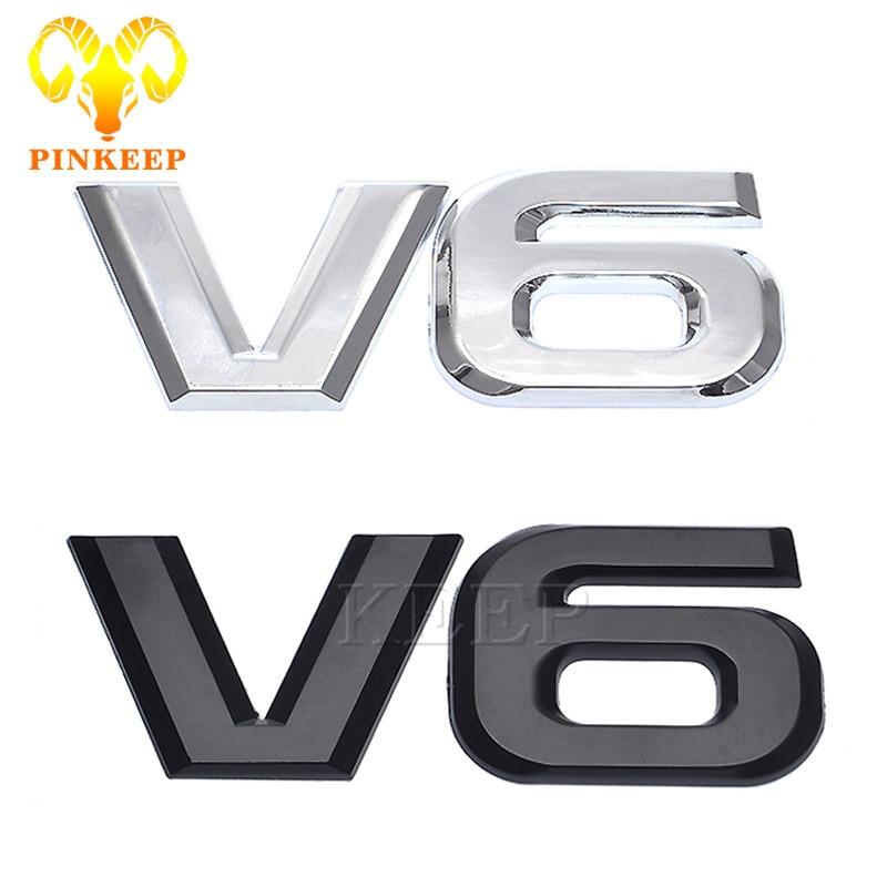 Universal Car Rear Emblems Letters 3D Sticker Decal V6 T V6T Badge Symbol Trim