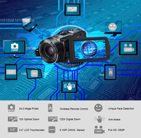 Ordro Z80 Digital Video Camera 10x Optical Zoom HD Digital 1080P Camcorder Night Vision 120X Digital Zoom Remote Control