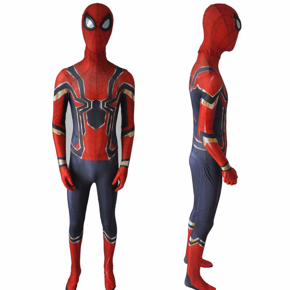 Spiderman Homecoming Bodysuit Suit Cosplay Costume Jumpsuit Iron Spider Man Peter Parker Superhero Halloween Party Props Costume