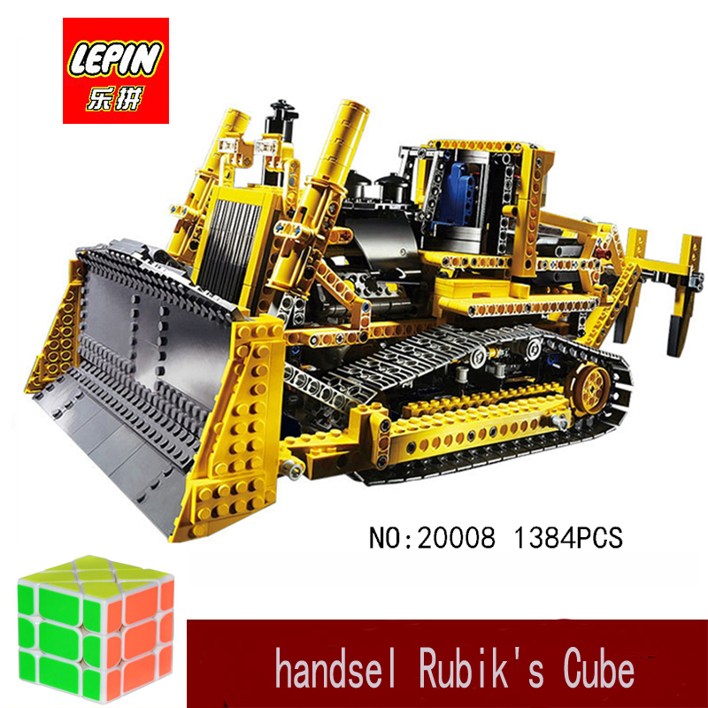 lepin architecturs 20008 technic serie remote control bulldozer Model Assembling Building block Bricks kits Compatible 42030 lepin 20008 technic series remote contro lthe bulldozer model assembling building block bricks kits compatible with 42030