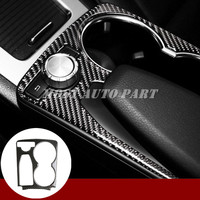 Carbon Fiber Console Water Cup Holder Trim Cover For Benz GLK X204 2008 2015