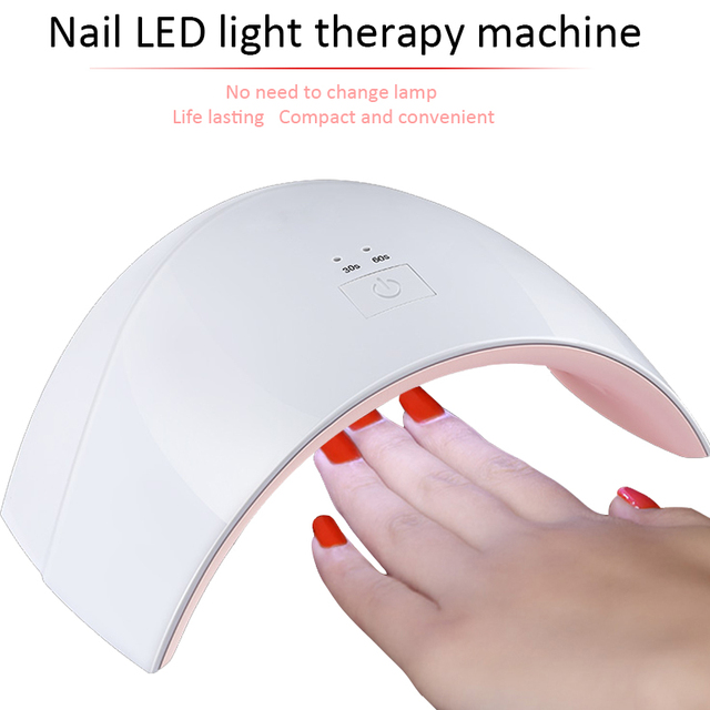 Nail Lamp 24W LED Lamp Dryer Nail For UV Gel LED Gel With 30s/60s Option Nail Polish Fashion Design UV Lamp Curing Manicure