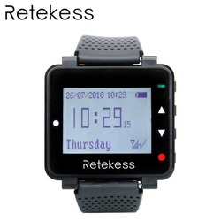 RETEKESS T128 Watch Receiver 433.92MHz Black For Wireless Calling System Waiter Call Pager Restaurant Equipment Customer Service
