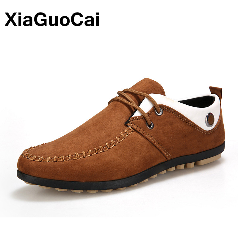 XiaGuoCai Spring Autumn Men Casual Shoes Doug shoes Breathable Driving Shoes For Male Comfortable Nubuck Leather Boat Shoes X10 vesonal driving brand genuine leather casual male shoes men footwear adult 2017 spring autumn comfortable soft driving for man