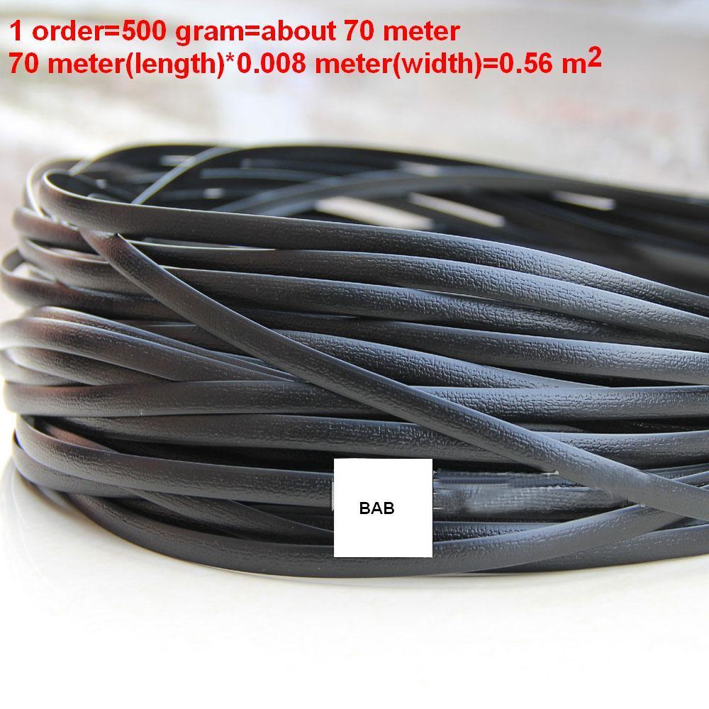Schwarz flache synthetische rattan weben material kunststoff rattan für stricken und reparatur stuhl tisch, ablagekorb, ect