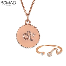 ROMAD Zodiac necklace women statement 12 constellations choker pendant girl birthday Horoscope jewelry astrology R5