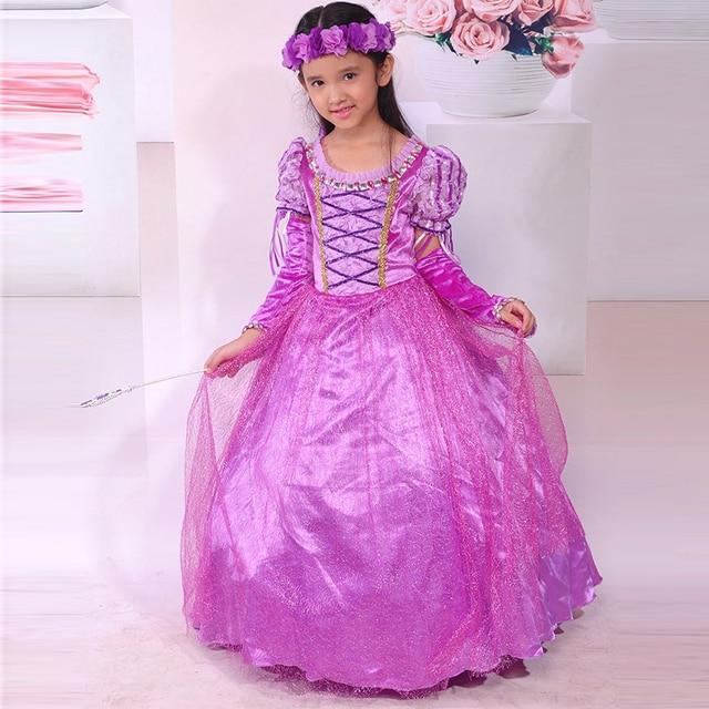 Nueva Marca para niños chicas Vestido de Rapunzel Cosplay Princesa Sofia Vestido de fiesta tutu Vestidos Fantasia Vestidos en Vestidos de Mamá y ...