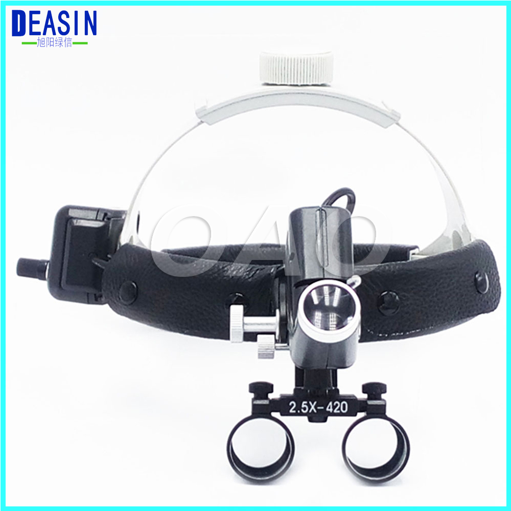 2.5X Operation lamp surgical headlight Dental Loupes Medical Magnifier hot sale 2 5x medical magnifier all in ones operation lamp surgical headlight and dental loupes