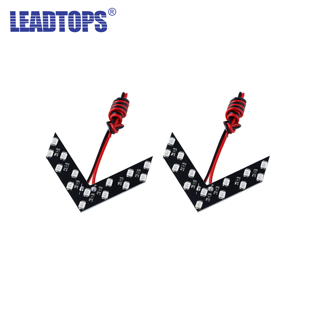 LEADTOPS New 100Pcs 14 SMD LED Arrow Panel For Car Rear View Mirror Indicator Turn Signal Light For All Car Flash CJ brand new 1pair 12v 9pcs led car rear view mirror lights soft board waterproof turn signal lamp light