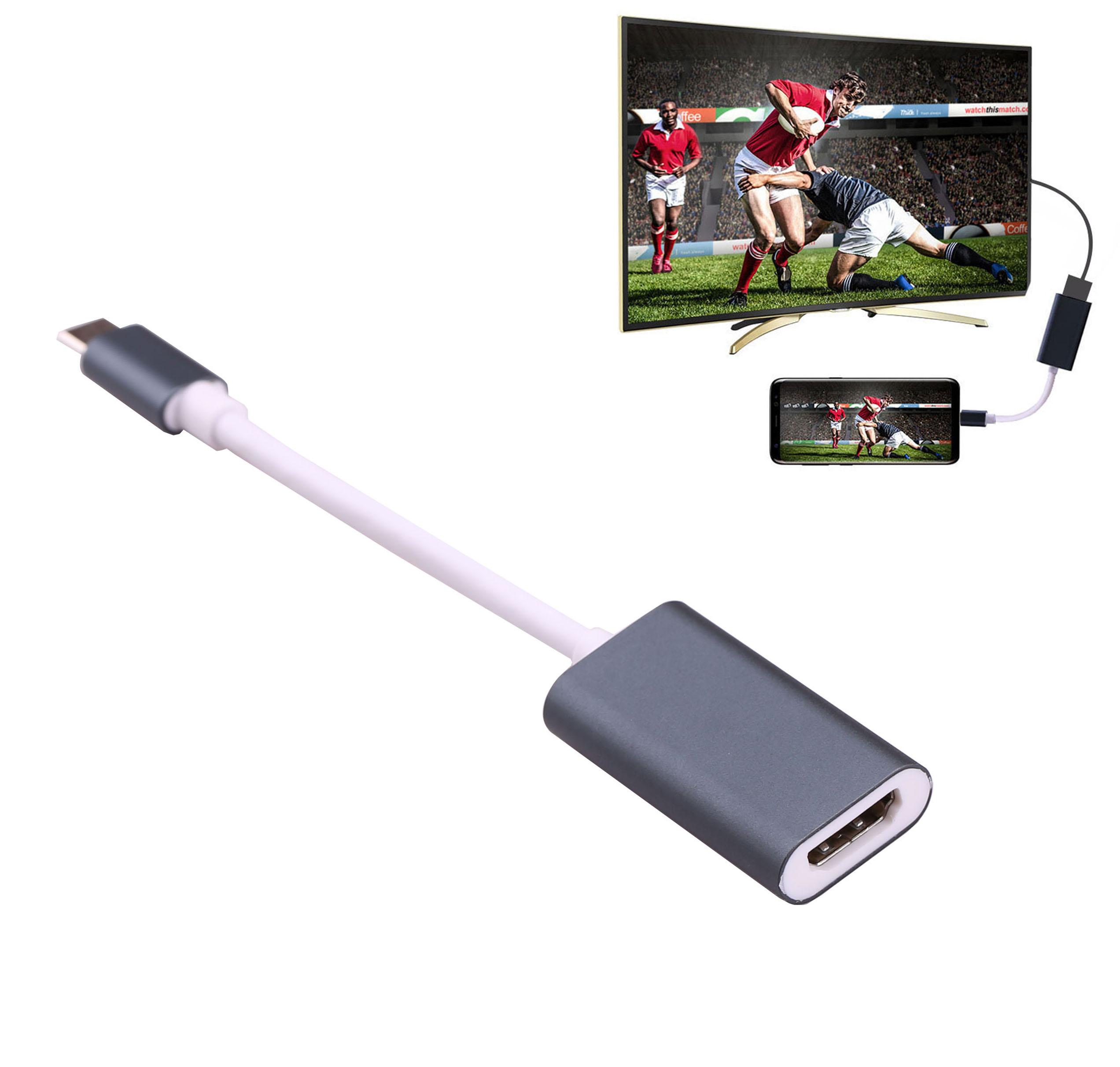 4 К Тип C к HDMI видео кабель адаптер HD ТВ Ключ конвертер для MacBook для samsung Galaxy S8 S9 плюс для LG G5 Lumia950XL к ТВ