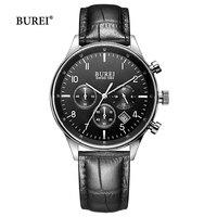 Reloj de pulsera de cuarzo de negocios para hombre 2017  reloj deportivo a la moda a prueba de agua con cronógrafo  reloj contraído  reloj Masculino