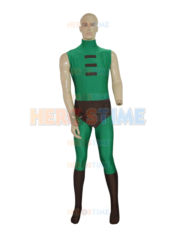 Green Arrow costume the most classic halloween cosplay spandex Green Arrow Powerful Men Superhero Costume  free shipping