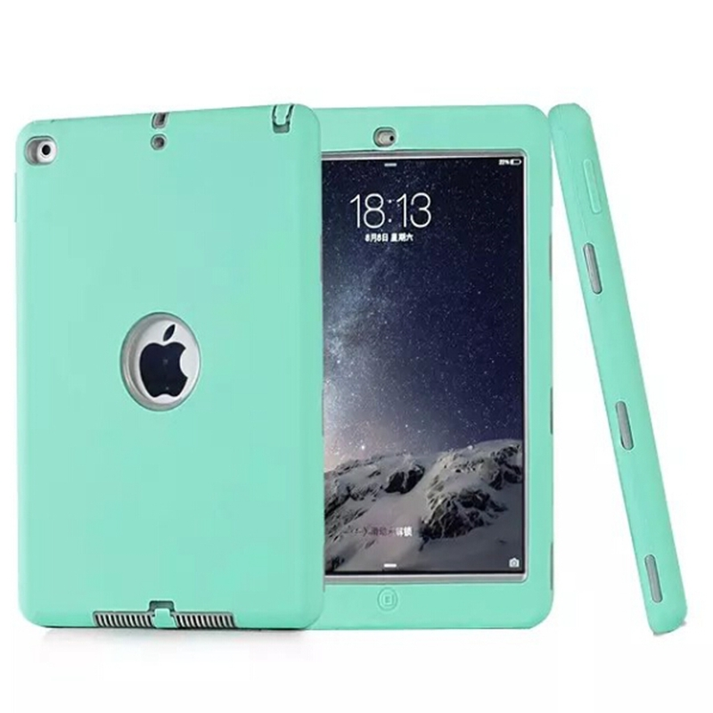 NEW Fashion Cover For Apple ipad5/ipad air Armor Rubber 2 in 1 Screen Protective Shell Tablet Case +stylus pen