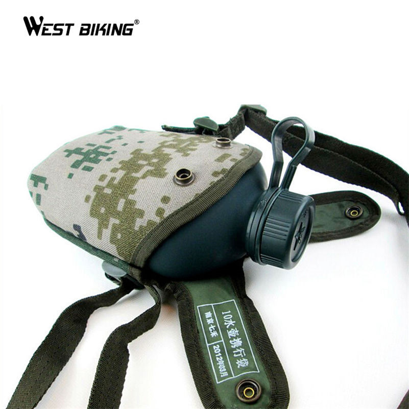 WEST BIKING 1L Army Green Bicycle Water Bottle High-capacity Water Bottles Cycling Velo Bicicleta Bicycle MTB Bike Bottle