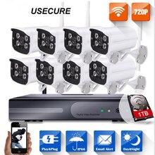 720P 8CH NVR WIFI Surveillance Kit Plug and P house cameras