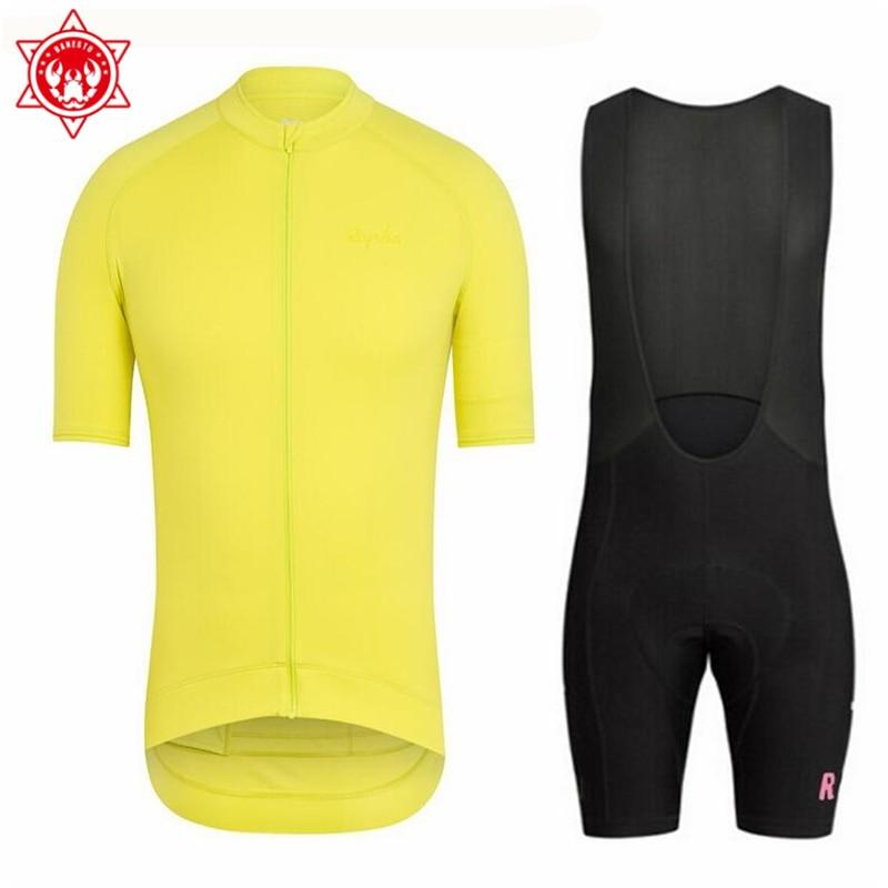 2018 Banesto Summer Rapha riding short sleeved shirt, men's braces, mountain bike equipment, riding suit set