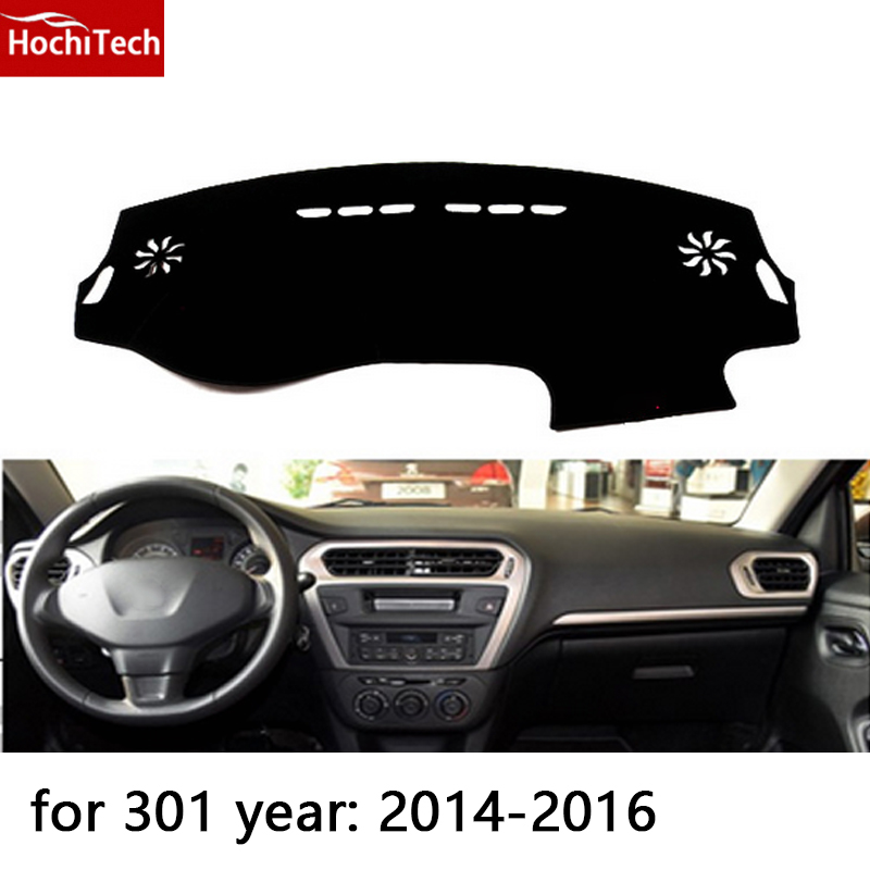 HochiTech for Peugeot 2008 301 508 3008 dashboard mat Protective pad Shade Cushion Photophobism Pad car styling accessories цены онлайн