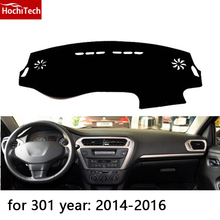 HochiTech para Peugeot 2008 301 508 3008 dashboard mat Cojín Pad Photophobism almohadilla Protectora Sombra car styling accesorios