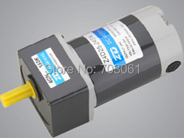 40W 80mm 24 V DC brush gear motor Micro DC gear motor Square gear head Gear Ratio 15:1 model Z4D40 24GN 30S and 4GN15K