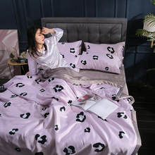 Silk Summer Duvets Pink Leopard Pattern Cool Thin Quilt Comfortable Washed Home Textile Without Pillowcase(China)